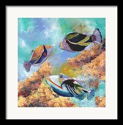 Hawaii State Fish Framed Prints