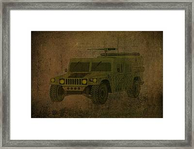 Humvee Midnight Desert  Framed Print by Movie Poster Prints