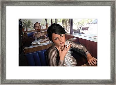 Hunchback Beauty Framed Print