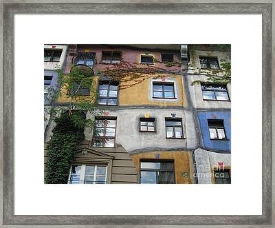 Hundertwasser Colored House Framed Print by Eclectic Captures