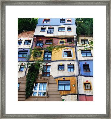 Hundertwasser House Vienna Framed Print by Timo Peter Gronlund