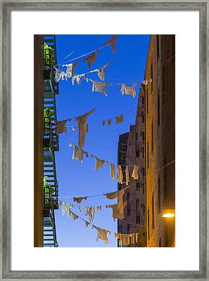 Hung Out To Dry 1 Framed Print by Scott Campbell