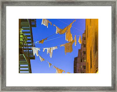 Hung Out To Dry 2 Framed Print by Scott Campbell