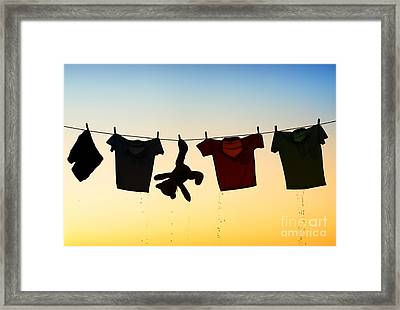Hung Out To Dry Framed Print by Tim Gainey