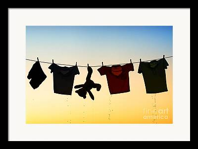 Drop Clothes Framed Prints