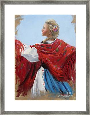 Hungarian Folk Dancer Framed Print