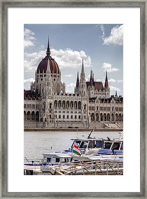 Hungarian Parliament Across The Danube Framed Print