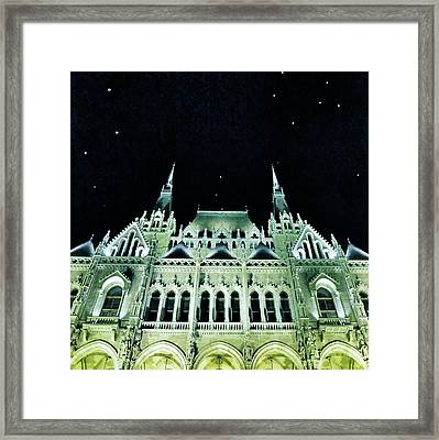 Hungarian Parliament Building - Budapest Framed Print by Marianna Mills