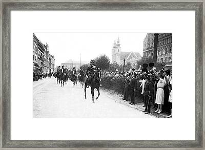 Hungarians Protest Trianon Framed Print by Underwood Archives