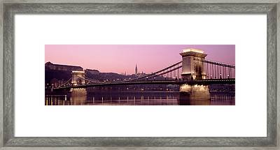 Hungary, Budapest, Szechenyi Lanchid Framed Print by Panoramic Images