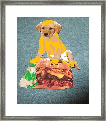 Hungry Dogs Framed Print