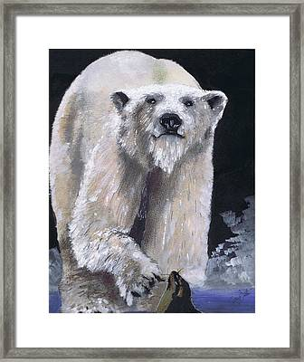 Hungry Hunter Framed Print