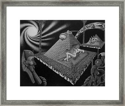 Framed Print featuring the drawing Hungry Observers by Geni Gorani