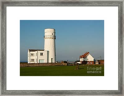 Hunstanton Lighthouse Norfolk Uk Framed Print