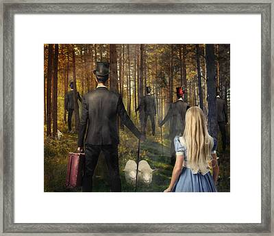 Hunt For The White Rabbit Framed Print by Terry Fleckney