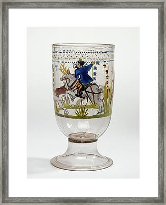 Hunt Goblet Unknown Czech Republic, Bohemia Framed Print by Litz Collection