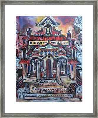 Hunted House Framed Print by Julia Pankova
