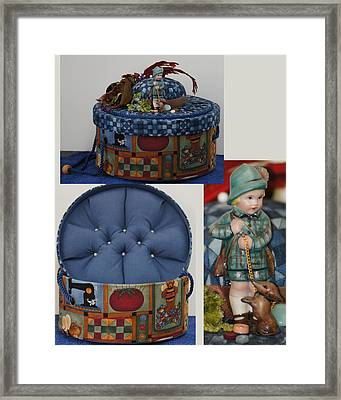 Hunter Boy And Dog Sewing Box Framed Print
