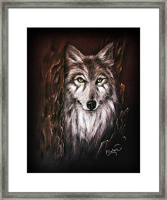 Hunter In The Night Framed Print