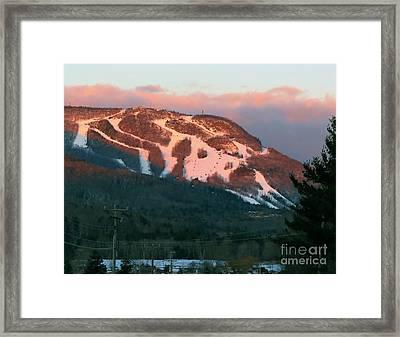 Hunter Mountain Morning Framed Print