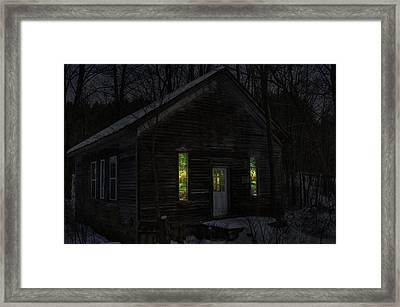 Hunter's Cabin Framed Print by David Simons