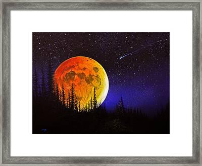 Hunter's Harvest Moon Framed Print by C Steele