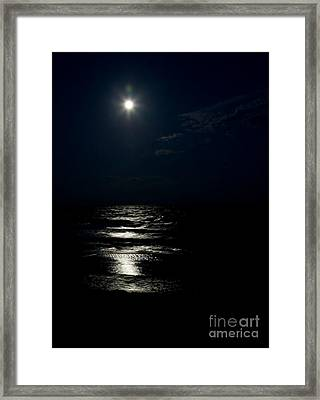 Hunter's Moon II Framed Print by Michelle Wiarda