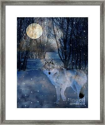 Hunter's Moon Framed Print by Judy Wood