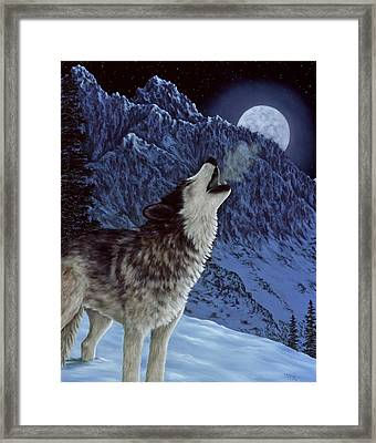 Hunters Moon Framed Print by Rick Bainbridge