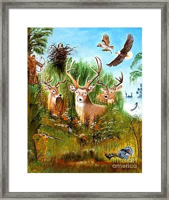 Hunters Paradise Framed Print