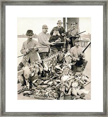 Hunters Pose With Their Birds Framed Print
