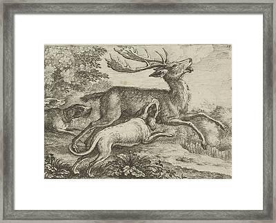 Hunting A Deer, Jan Griffier I, Pierce Tempest Framed Print