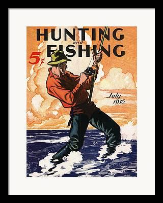 Fisherman Framed Prints