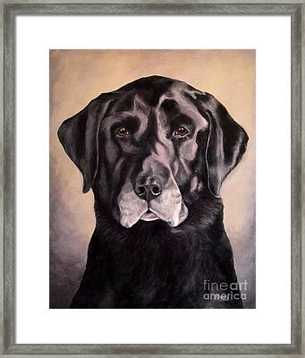 Hunting Buddy Black Lab Framed Print