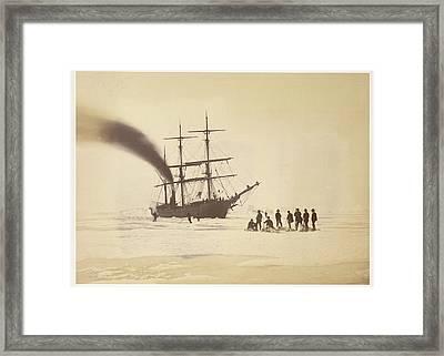 Hunting By Steam Framed Print