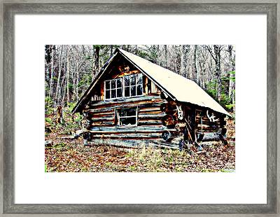 Hunting Camp Framed Print by Marie Fortin