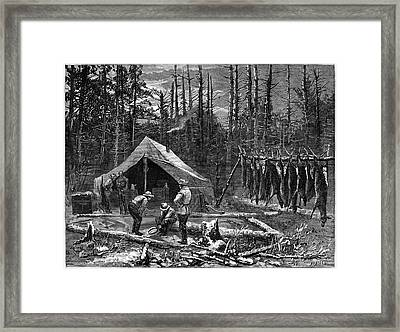 Hunting Deer, 1874 Framed Print