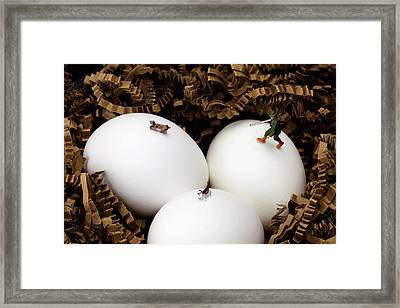 Hunting In Nest Little People On Food Framed Print by Paul Ge