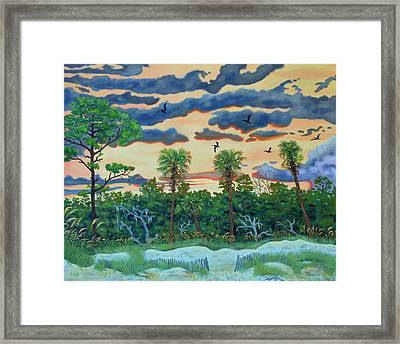 Hunting Island - 2 Framed Print by Dwain Ray