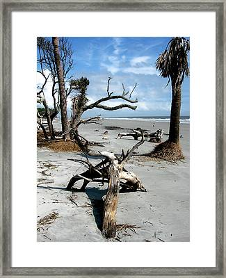 Framed Print featuring the photograph Hunting Island - 3 by Ellen Tully