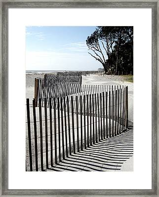 Framed Print featuring the photograph Hunting Island - 6 by Ellen Tully