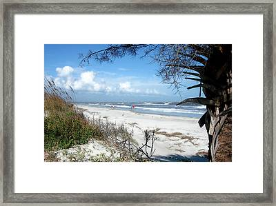 Framed Print featuring the photograph Hunting Island -8 by Ellen Tully