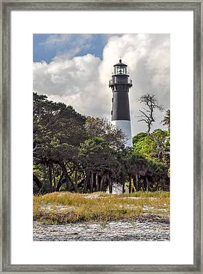 Hunting Island Lighthouse Framed Print by Donnie Smith