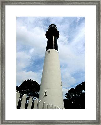 Framed Print featuring the painting Hunting Island Lighthouse by Lyn Calahorrano