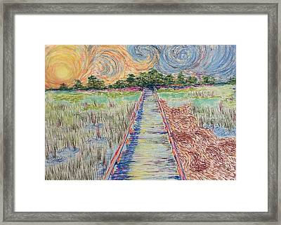 Hunting Island Marsh Walk I Framed Print