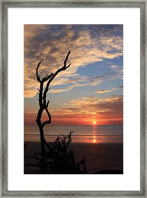 Hunting Island Sunrise Framed Print