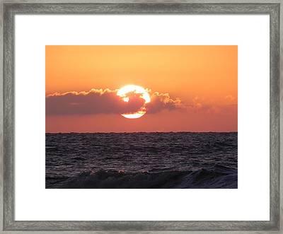 Hunting Island Sunrise Framed Print by Patricia Greer