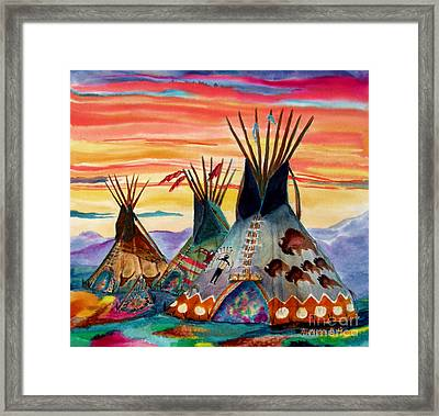 Hunting Lodges  Northern Plains Framed Print by Anderson R Moore