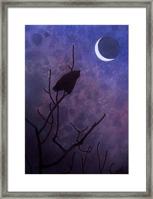 Hunting Moon II Or Great Horned Owl Framed Print