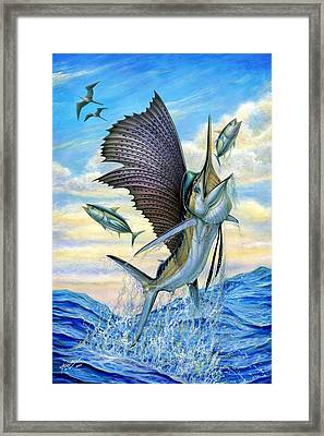 Hunting Of Small Tunas Framed Print